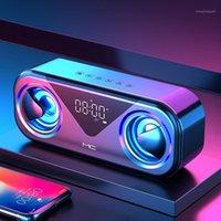 휴대용 스피커 블루투스 열 무선 블루투스 스피커 강력한 높은 붐 박스 야외베이스 Hifi TF FM 라디오 LED Light1