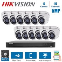 16ch شبكة hikvision مراقبة الفيديو مع 12 قطع 5MP داخلي قبة كاميرات للرؤية الليلية CCTV نظام الأمن Kits1