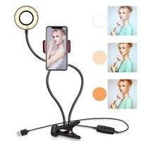 Braço Longo Selfie Universal Titular 24 LEDs Anel Flash Fill Light Light Câmera Clipe Câmera Celular Telefone Celular Lâmpada Live1