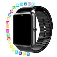 الجملة الذكية ووتش gt08 ساعة مزامنة مخاط دعم sim tf بطاقة اتصال بلوتوث الروبوت الهاتف smartwatch سبيكة smartwatch5pcs / lot