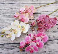fiore di tocco reale qualità PU orchidea alta fiori di seta decorazione della casa della festa nuziale di farfalla fiore di orchidea artificiale