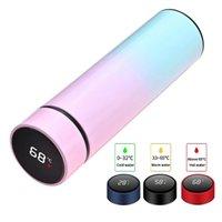 500ml Smart Water Bottle LED LED Aspirapola Digital Temperatura Display Acciaio inossidabile Caffè Tazze termiche Isolanti intelligenti tazze di isolamento intelligente