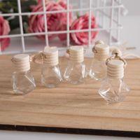 Carro Perfume Frasco Car Pingente Perfume Ornamento Air Refrogerador para Óleos Essential Difusor Fragrância Frasco De Vidro Vazio