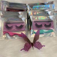 거짓 3D 밍크 속눈썹 속눈썹 눈 메이크업 수제 소프트 자연 두꺼운 가짜 속눈썹 속눈썹 마스카라 지팡이와 Tweezer