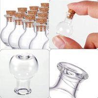 الفلين متمنيا زجاجة صغيرة مصغرة الزجاج الزجاج الجرار شفافة المحمولة العطور العائمة التعبئة زجاجات حقيبة من 10 جودة عالية 7CR M2