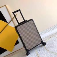 Klasik Seyahat Bavul Bagaj Lüks Erkek Kadın Gövde Bavul Çanta Çubuk Kutusu Spinner Evrensel Tekerlek Duffel Bavullar