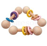 Hochette en bois hochet en bois 2 types de sucette bébé soins accessoires douche cadeau bébé bague jouet db462
