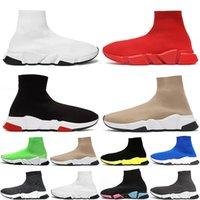 Balenciaga sock 최고 품질의 양말 신발 속도 트레이너 망 빈티지 낙서 캐주얼 신발 여성 발목 양말 부츠 에투 체배기 평평한 운동화 여자