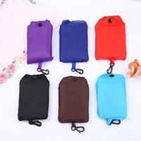 Nouveau sac à provisions pliable Couleur Solid Oxford Tissu Eco fourre-tout Portable Sac shopping réutilisable Épicerie pour dames1