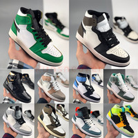 2021 Jumpman 1 1S Баскетбольная обувь Mid Milan Candy Turbo Green Unc Twist Темные Mocha Мужские кроссовки EUR 36-47 с коробками