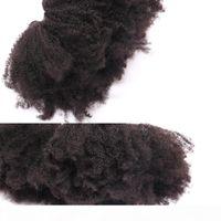 المنغولية الأفرو غريب مجعد نسج الشعر البشري حزم العسل الملكة منتجات الشعر غير ريمي لون طبيعي نسج الشعر