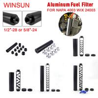 Solvent Tuzağı Alüminyum 10 inç 6 inç Uzatma Spiral 1/2-28 veya 5/8-24 Araba Yakıt Filtresi Napa 4003 Wix 24003 RS-OFI için 1x7 Araba Solvent Tuzağı