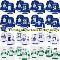 Toronto Maple Leafs jersey 91 John Tavares 16 Mitch Marner 34 Auston Matteo 97 Thornton 24 Simmonds 88 Nylander 44 Rielly Hockey maglie