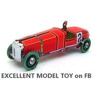 صفيح نموذج سيارة الرياح لعبة، الإسبانية الأحمر 2 سباق سيارات، الرجعية الكلاسيكية الحنين الكلاسيكية، هدية عيد ميلاد، جمع، ديكور المنزل