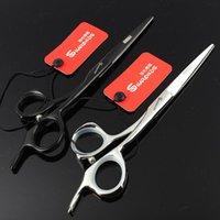 Saç Makas Sharonds Yüksek dereceli 5.5 / 6 6.5 inç Bireysel Gümüş Siyah Styling Aracı Paslanmaz Çelik Kesim