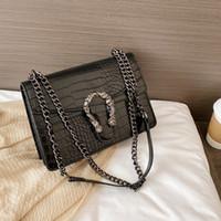 Luxus Stein Muster Leder Crossbody Tasche für Frauen 2020 Mode Sack Eine Haupt-weibliche Schultertasche weibliche Handtaschen und Geldbörsen