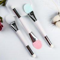 Make-up-Pinsel Silikon-Gesichtsmaske-Pinsel Professionelle doppelt beendete weiche Gesichtsfoundation Schlammmischung bilden Kosmetik