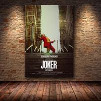 Joaquin Phoenix Poster Prints Poster Joker Film 2019 DC Bande dessinée Toile Huile Peinture à l'huile Photos de mur pour salon Décoration de la maison Y200102