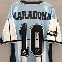 Maradona Argentina Jersey Retro 2001 Futbol Forması Koleksiyon Maillot Maradona Futbol Gömlek Stokta