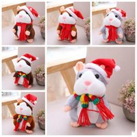 Talks Hamster Peluche Toys Lindo Animal Dibujos Animados Kawaii Hablar Sound Sound Record Hamster Talking Toy Children Gifts 16cm YL809
