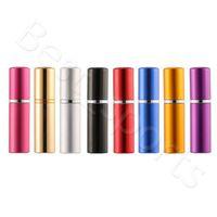5ml perfume garrafa de alumínio anodizado compacto perfume atomizador fragrância vidro cheiro-garrafa de viagem maquiagem frasco de pulverizador cyz2968 mar