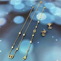 2020Home 진주 다이아몬드 편지 작은 향수 스타일 Ckoker 목걸이 기질 여성을위한 다용도 편지 목걸이