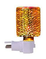 Cera perfumada aquecedor 3D fogos de artifício de vidro vidro elétrico queimador de cera velas luz de melter noite para presentesDecor, casa, escritório, quarto sala de estar