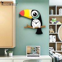 MEISD Moderne Design Dessin animé Horloges de la chambre Enfants Décor Wall Montre Quartz Silent Clock Horloge Séjour Accueil Horloge Flèches Expédition gratuite1