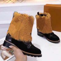 Bottes de neige hiver de mode véritables glissades en cuir cuir étanche hiver chaud genou chaud bottes haute bottes de mode en plein air bottillons martin boot l310 08