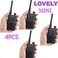 4pcs PMR Walkie Talkie 5W Baofeng Xunlibao X1 미니 양방향 라디오 핸드 헬드 트랜시버 FRS 트랜시버