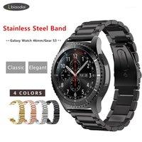 Bracelet en métal pour Samsung Gear S3 Frontier / Galaxy Watch 46mm Band SmartWatch 22mm Bracelet en acier inoxydable Huawei Montre GT S 3 461