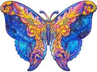 Оптово-Деревянная головоломка головоломка, лучший подарок для взрослых и детей, уникальные формы Jigsaw Piece Intergalaxy Butterfly Jigsaw Puzzle