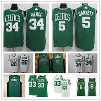 Vintage Paul 34 Pierce Kevin 5 Garnett Jayson 0 Tatum Larry 33 Kuş Jaylen 7 Brown BostonCeltic Ray 34 Allen Basketbol Formaları