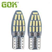 Luci di emergenza 10pcs Auto T10 LED Canbus W5W 24SMD 4014 Auto SMD Light 194 Lampadina Nessun errore OBC per Car1