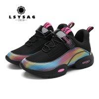 Lsysag crianças calçados sapatos tênis casuais treinadores de corrida Chaussure Enfant Symphony crianças meninos meninas 201201