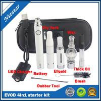 Evod 4 em 1 tensão variável Vaporizador Pen Starter Kits para Herb Seco Cera Dab Espesso Óleo Ego Ugo 4in1 Kits de Pré-aqueça VV