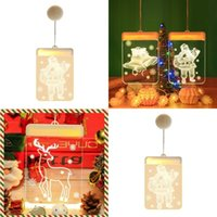 LED Indoor Christmas Lamp String Snowflake Santa Claus Elk Shape Christmases Decorate Coloured Lights New Arrival