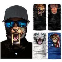 Animaux écharpe magique Chat Chien Bandana demi-masque facial 25 * 50cm Bandeau Turban Ski Vélo Masque CYZ2911
