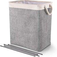 حقيبة الغسيل للطي غسل بن قابلة للطي أكسفورد غسل الملابس القذرة سلة الغسيل المحمولة أكياس تخزين غسيل الملابس FFC5726