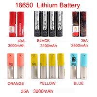 Bateria recarregável Nova Chegada 18650 Bateria 3000Mah-3500mAh para Mix Marca Preto Bateria de Lítio Transporte rápido por FedEx