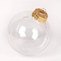 Decoração de Natal DIY Bolas de Gota Árvore Transparente Plástico Pingentes de Casamento Ao Ar Livre Ornamentos Hollow Esfera Originalidade Venda Quente 7 98SQ F2