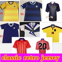1982 1986 1995 Scozia Retro Soccer Jersey World Cup Attrezzature Home Kit Blue Kit 1996 1998 Classic Vintage Scotland Retro Camicia da calcio Top