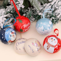 6pcs Christmas Pendant Hanging Candy Box Christmas Ball Pend...