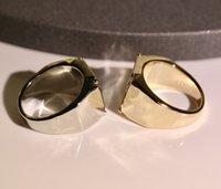 361 Titan Stahl Ring Brief Paar Ring Mode Trend Blume Ring Hohe Qualität Vergoldet Ringe Schmuckversorgung