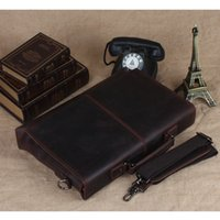 """Подлинная 13 """"офисная кожа для уполномоченного ноутбука человека дизайнер посыльный портфель сумка стильный ретро коричневый 1079 TCVVV"""