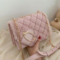 Small Plush PU Leather women Tote Bag Luxury Female Chain Handbag and Purses Women's Shoulder Bag Crossbody Bags Ladies Flip