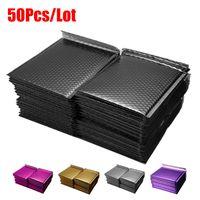 50 PC / lot 골드 도금 종이 버블 봉투 가방 메일러 패딩 배송 봉투 버블 메일 링 백 다른 사양