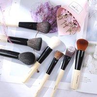 Pinceaux de maquillage de luxe BB Set de chèvre naturelle Cheveux Cheveux Poudre Cuisson Fondation Fondation Fondeuse à paupières Bronzer Bronzer Brosses Outil Cosmétique