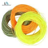 Maximumcatch 1-8wt 100ft DT sinek balıkçılık hattı çift konik yüzen sinek hattı yeşil / sarı / turuncu renk 201118