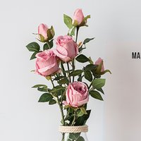 69см длинный филиал европейские высококачественные искусственные цветы роза 2 головы шелковый дом декор DIY поддельные цветы бутон свадебное украшение